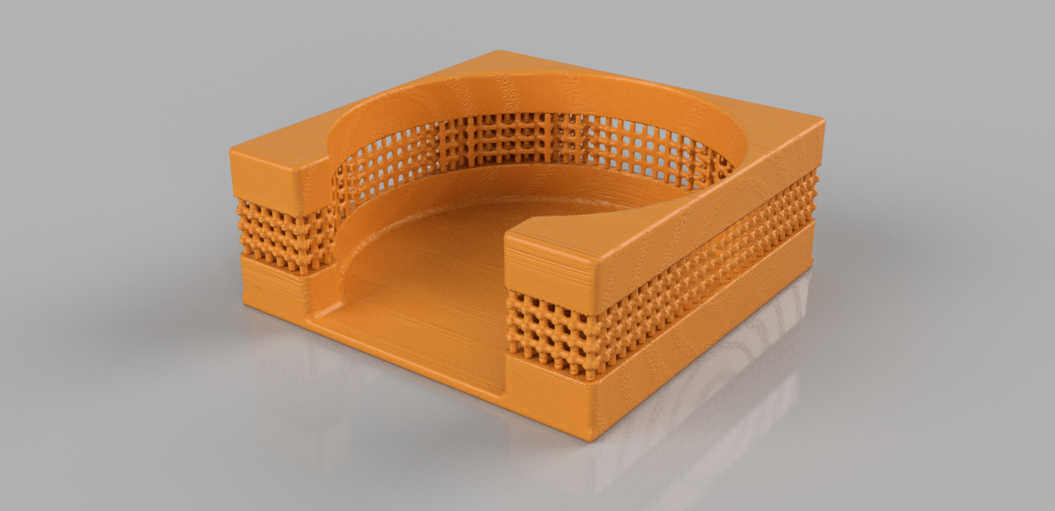 coasterholder v6.png Download free STL file Coasterholder lattice pattern • 3D printer template, IdeaLab