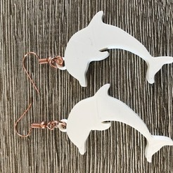 IMG_1841.jpg Download free STL file Dolphin earrings • Design to 3D print, IdeaLab