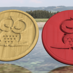 Free 3D printer designs Owl drinkcoaster set, IdeaLab
