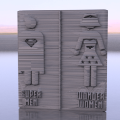 Download free 3D printer designs Superhero toiletsign, IdeaLab