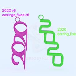 Descargar modelos 3D gratis Juego de pendientes 2020 (dos limas !), IdeaLab