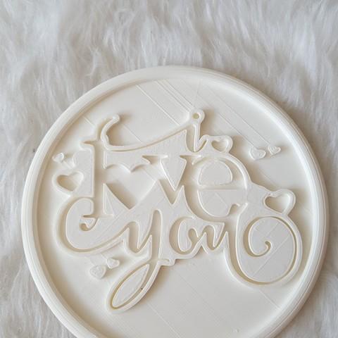 20190324_134117.jpg Download free STL file I love you drinkcoaster • 3D print design, IdeaLab
