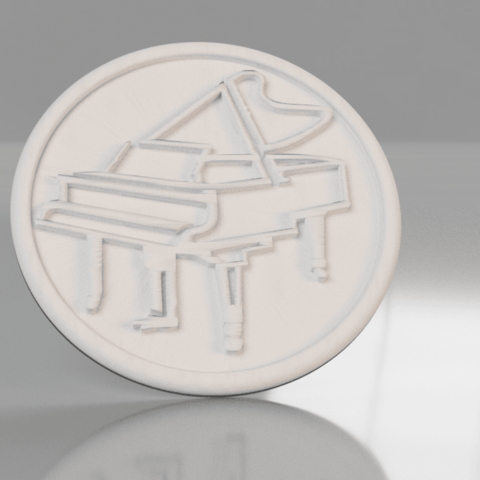 piano .png Download free STL file Piano drinkcoaster pair • Model to 3D print, IdeaLab