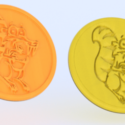 ice age cropped.png Download free STL file Ice Age drinkcoaster • 3D print object, IdeaLab
