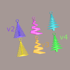 xmas v3 final.png Download free STL file Xmas tree earrings (set) • Design to 3D print, IdeaLab