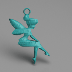 Download free 3D printer designs Tinker Bell earrings, IdeaLab