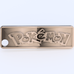 pokemon.png Download free STL file Keychain 'pokemon' • 3D printable model, IdeaLab
