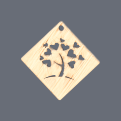 heart tree v2.png Download free STL file Heart tree earrings (v2) • 3D printer object, IdeaLab