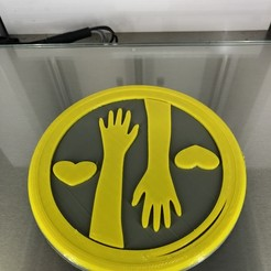 IMG_4248.jpg Download free STL file Coaster 'helping hands' • 3D printing template, IdeaLab