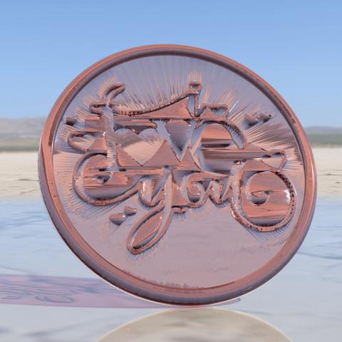 Télécharger objet 3D gratuit Je t'aime les dessous de verre, IdeaLab