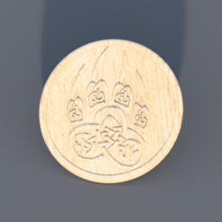 claw.png Download free STL file Drinkcoaster 'celtic claw' • 3D print template, IdeaLab