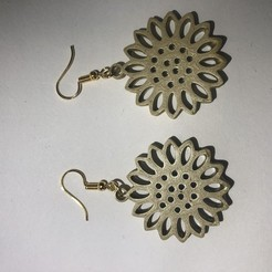 Download free STL file Sunflower earring, IdeaLab