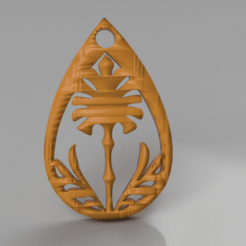 chrysant.png Download free STL file Chrysant earring • 3D print model, IdeaLab