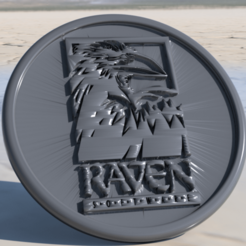 raven.png Download free STL file Raven Software coaster • 3D printable design, IdeaLab