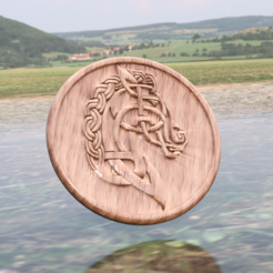 horse v2b.png Download free STL file Celtic horse drinkcoaster • Template to 3D print, IdeaLab