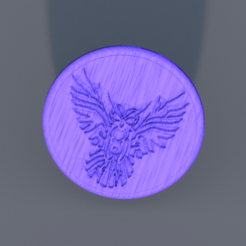 owl.png Download free STL file Tribal owl drinkcoaster • 3D printing object, IdeaLab