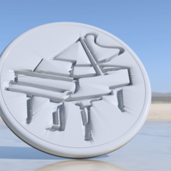 Free 3D printer files Piano drinkcoaster pair, IdeaLab
