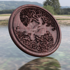 Free 3D print files Tree of life coaster (yin yang), IdeaLab