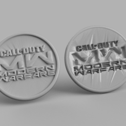 cod.png Download free STL file Call of Duty Modern Warfare drinkcoaster (pair) • 3D print template, IdeaLab