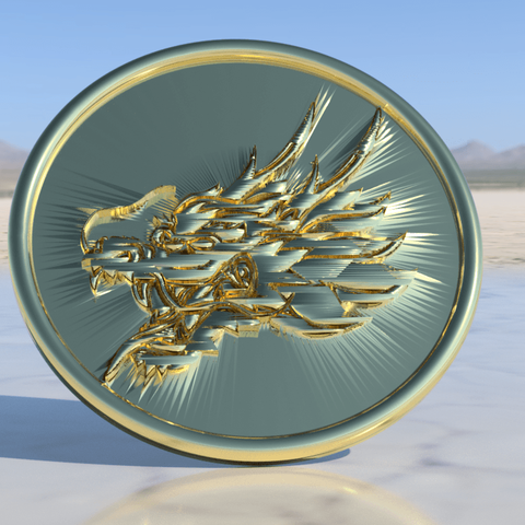 dragon coaster.png Download free STL file Dragonhead drinkcoaster • 3D printer design, IdeaLab