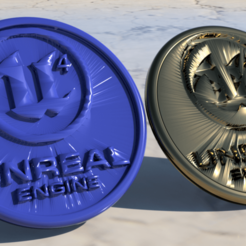 Free 3D printer designs Unreal Engine 4 coaster (pair), IdeaLab