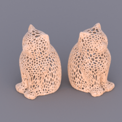 cat voronoi.png Download free STL file Laser cat remix (voronoi pattern) • Object to 3D print, IdeaLab