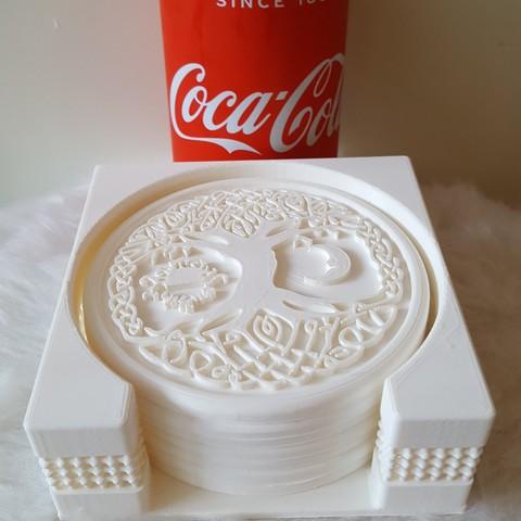 20190407_191039.jpg Download free STL file Coasterholder lattice pattern • 3D printer template, IdeaLab
