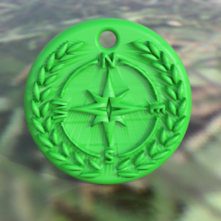 compass.png Download free STL file Compass pendant • Model to 3D print, IdeaLab