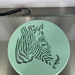 IMG_4393.jpg Download STL file Zebra drinkcoaster • 3D printer model, IdeaLab