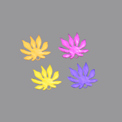 leaf v8.png Download free STL file Earrings v8: 'leaf' • Design to 3D print, IdeaLab
