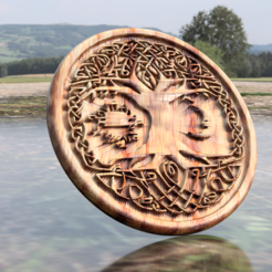 Download free 3D printing templates Celtic tree of Life drink-coaster (version 2), IdeaLab
