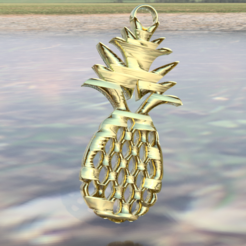 Download free 3D printer templates Pineapple earrings, IdeaLab