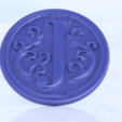 Free STL file Coaster with letter 'J', IdeaLab