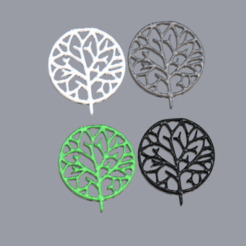 tree v3.png Download free STL file Happy tree earrings • Design to 3D print, IdeaLab