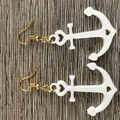 IMG_1815.jpg Download free STL file Anchor earrings • Template to 3D print, IdeaLab