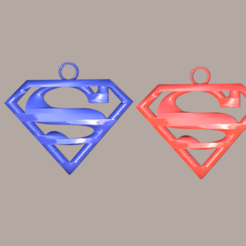 superman.png Download free STL file Superman earrings • Template to 3D print, IdeaLab