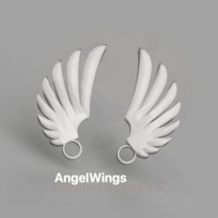 wings v2.png Download STL file AngelWings earrings (left & right) • 3D printing model, IdeaLab