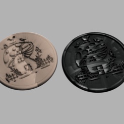 mushroomhouse.png Download free STL file Mushroomhouse drinkcoaster (pair) • 3D printable design, IdeaLab