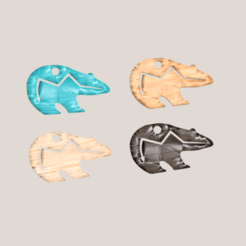 Zuni bear.png Download STL file Zuni Bear earring • 3D printable design, IdeaLab