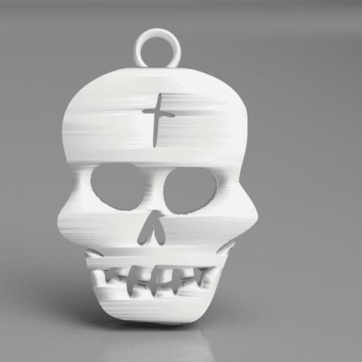 Descargar STL gratis Pendientes de cráneo, IdeaLab