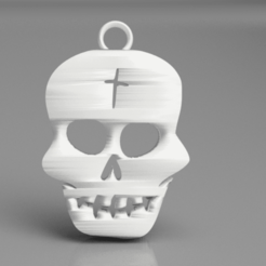 skull.png Download free STL file Skull earring • Object to 3D print, IdeaLab