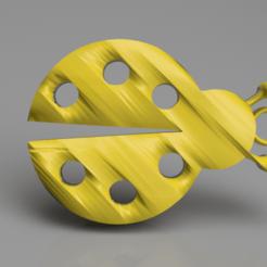 Impresiones 3D gratis Pendientes de mariquita, IdeaLab