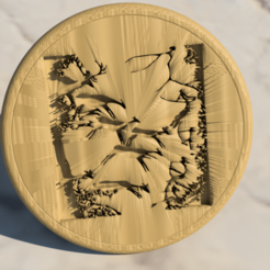Free 3D printer files Prehistoric Art coaster, IdeaLab