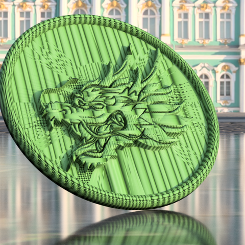 Download free 3D printer model Dragonhead drinkcoaster, IdeaLab