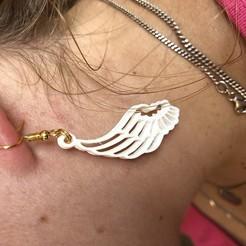 Download free 3D printing designs Angel wing earrings, IdeaLab