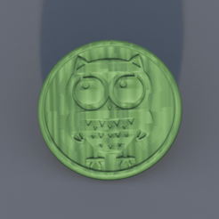 funny owl.png Download free STL file Drinkcoaster: 'funny owl' • 3D print object, IdeaLab