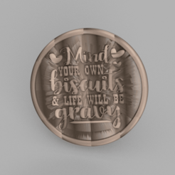 Download free 3D printer templates Drinkcoaster 'biscuits', IdeaLab