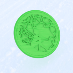 fairy.png Download free STL file Drinkcoaster ' fairy' • 3D printable object, IdeaLab