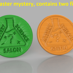 mystery A.png Download free STL file Coaster mystery • 3D print template, IdeaLab