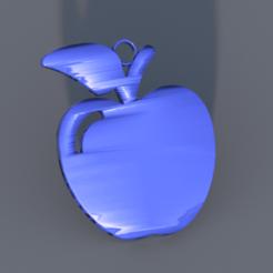 Télécharger fichier impression 3D gratuit boucle d'oreille pomme, IdeaLab